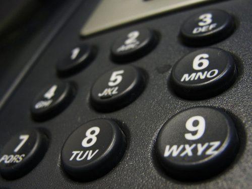 Close up of phone handset