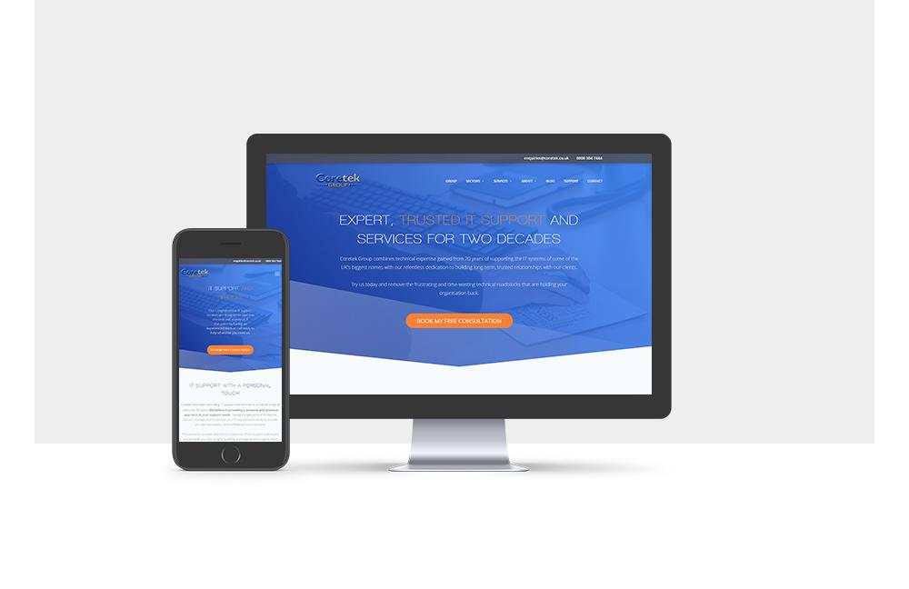 Coretek Website Mockup