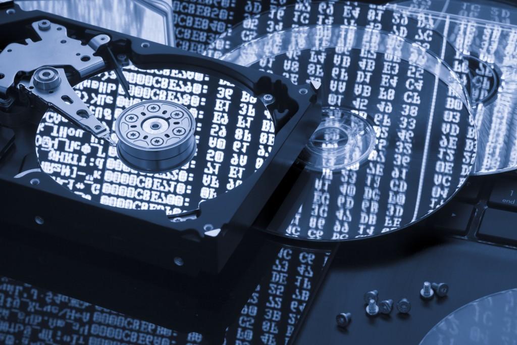 Hard disk data storage