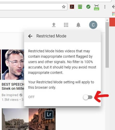 Restricted-Mode-Toggle