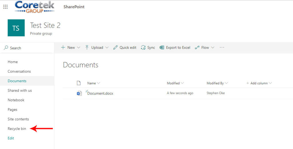 SharePoint File Restore Image 1